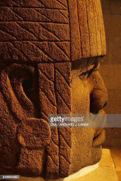 Olmec colossal head 4 height 170 cm found in San Lorenzo Tenochtitlan Veracruz Mexico Olmec civilisation 13th10th century BC Xalapa Museo De...