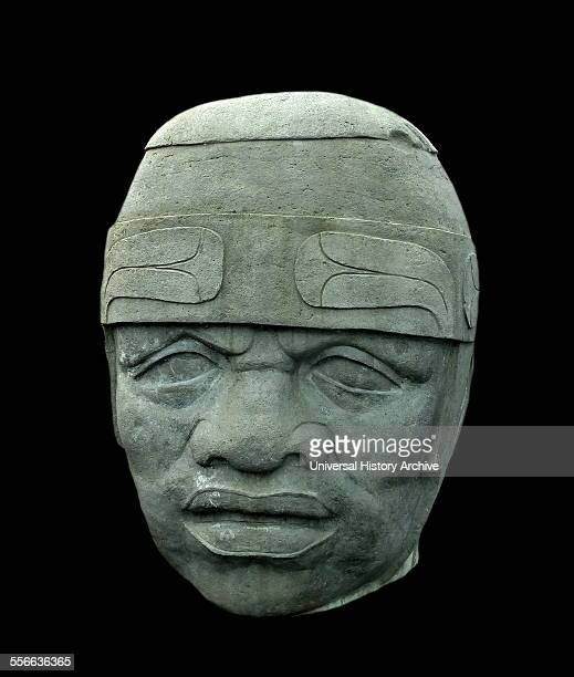Olmec stone colossal head The colossal sculpture is seventeen feet tall and was a gift from the government of Veracruz a state in southeastern Mexico...