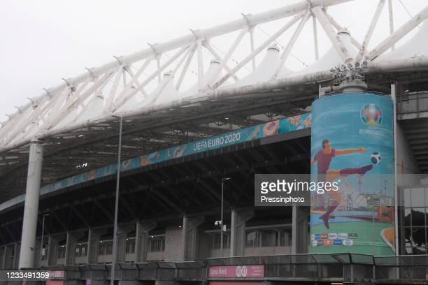 Olímpico in Roma outside view during the match between Italy and Switzerland of Euro 2020, group A, matchday 2, played at Olímpico in Roma stadium on...