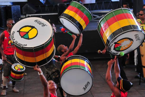 Olodum School drummers in Brazil