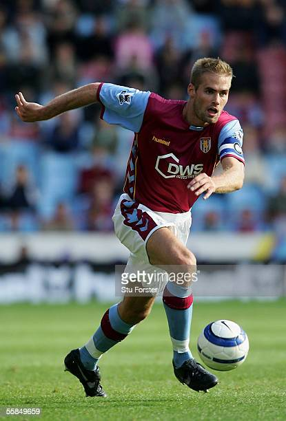 Olof Mellberg of Aston Villa during the Barclays Premiership match between Aston Villa and Middlesbrough at Villa Park on October 2 2005 in...