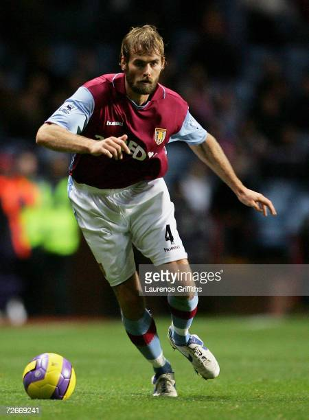 Olof Mellberg of Aston Villa in action during the Barclays Premiership match between Aston Villa and Middlesbrough at Villa Park on November 25 2006...