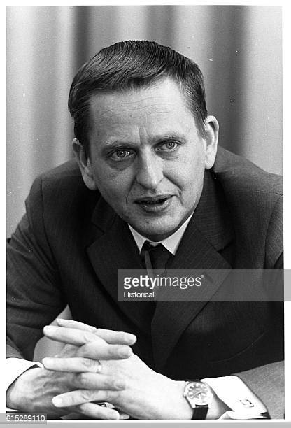 Olof Palme prime minister of Sweden and leader of the Social Democratic Worker's Party Palme was assassinated in 1986