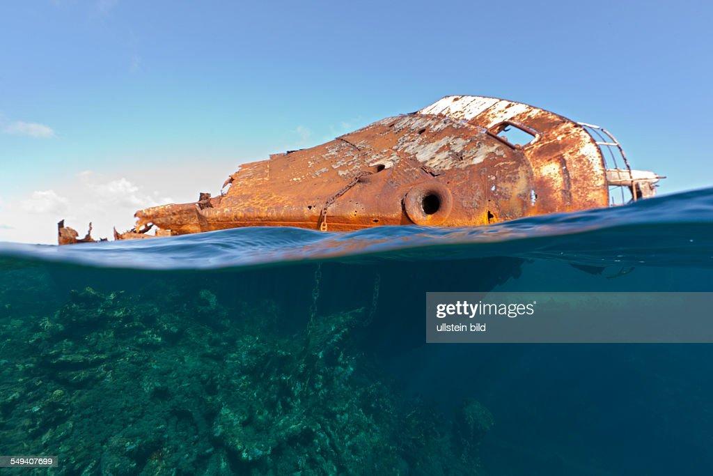 Ols Shipwreck At Silverbanks Silver Bank Atlantic Ocean Dominican Republic News Photo