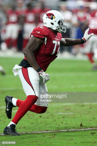 Olsen Pierre of the Arizona Cardinals in action during the game against the Los Angeles Rams at University of Phoenix Stadium on December 3 2017 in...