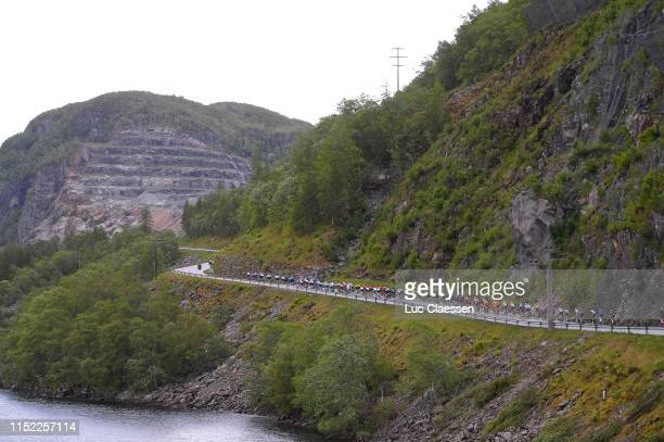 Oltesvikvegen Lake / Peloton / Landscape / during the 9th Tour of Norway 2019 Stage 1 a 1682km stage from Stavanger to Egersund / @tourofnorway /...