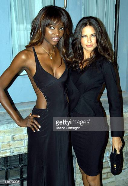 Oluchi Onweagba and Adriana Lima during Victoria Secret Launches New Sexy Photo Book Backstage Sexy at Spice Market in New York City New York United...