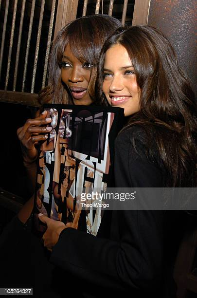 Oluchi Onweagba and Adriana Lima during Victoria's Secret Backstage Sexy Photo Book Preview AfterParty at Spice Market in New York City New York...