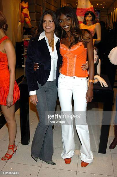 Oluchi Onweagba and Adriana Lima during Victoria's Secret 'Backstage Sexy' Photo Book Preview at Victoria's Secret Store 34th Street in New York City...