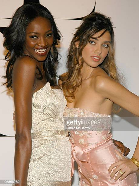 Oluchi Onweagba and Adriana Lima during Victoria's Secret 'Sexy Volume 3 A Tribute to a Decade of Sexy Swimwear' After Party in New York City at Milk...