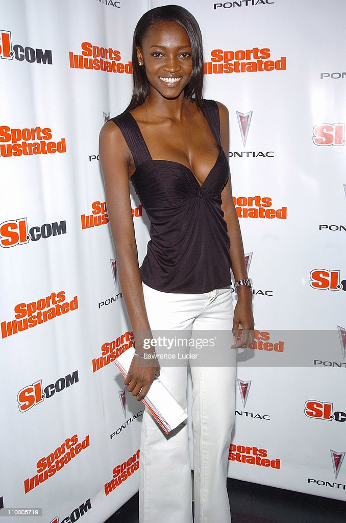 Oluchi Owengaba during Sports Illustrated 2005 Swimsuit Issue - Press Conference at AER Lounge in New York City, New York, United States.