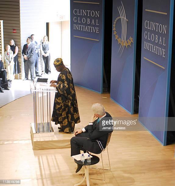 Olusegun Obasanjo President of Nigeria with former President Bill Clinton