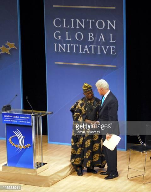 Olusegun Obasanjo President of Nigeria with former President Bill ClintonBill Clinton