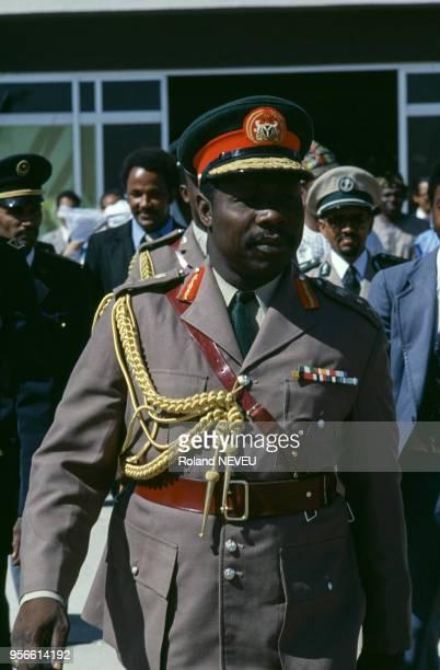 Olusegun Obasanjo président du Nigeria en novembre 1977 à Nouakchott Mauritanie