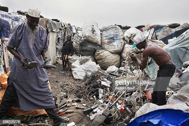 Olusosum dump site Lagos Goverment run by the agency Lagos Waste Management Authority One of 6 sites taking in general waste from all over Lagos...