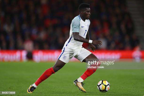 Oluwaseyi Ojo of England U21's during the UEFA Under 21 Championship Qualifier match between England and Latvia at the Vitality Stadium on September...