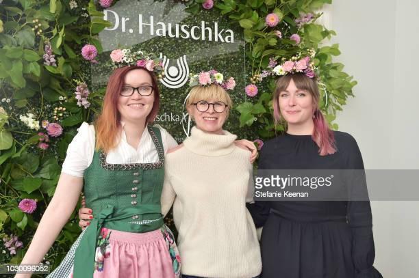 Olvia Vieweg Ingelore Koening and Franziska Henke attend German Films X Dr Hauschka Reception at the 43rd Toronto International Film Festival on...