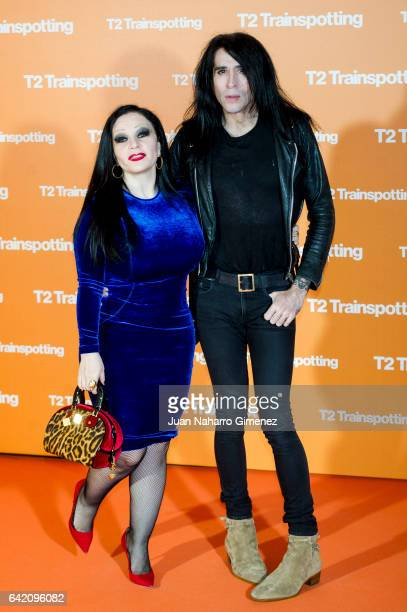 Olvido Gara aka Alaska and Mario Vaquerizo attend 'T2 Trainspotting' premiere at Sony Pictures building on February 16 2017 in Madrid Spain
