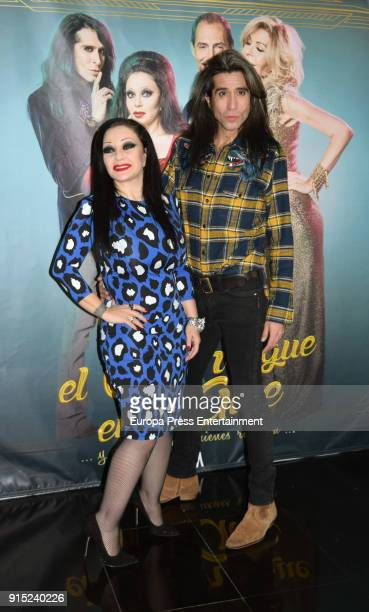 Olvido Gara aka Alaska and Mario Vaquerizo attend the 'El Amor Sigue En El Aire' photocall at Vincci Capitol Hotel on February 6 2018 in Madrid Spain