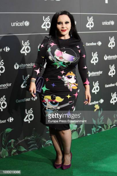 Olvido Gara aka Alaska attends the 40 Principales Awards nominated dinner at Florida Retiro on September 13 2018 in Madrid Spain