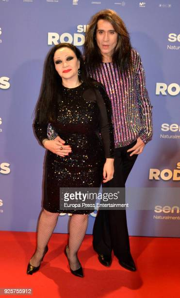 Olvido Gara Alaska and Mario Vaquerizo attend the photocall premiere of 'Sin Rodeos' at the capitol cinema on February 28 2018 in Madrid Spain