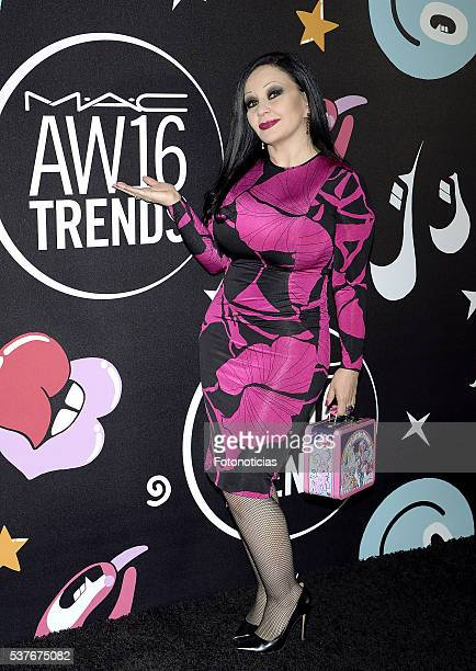 Olvido Gara Alaska attends MAC Cosmetics event at the Jardines de Cecilio Rodriguez on June 2 2016 in Madrid Spain