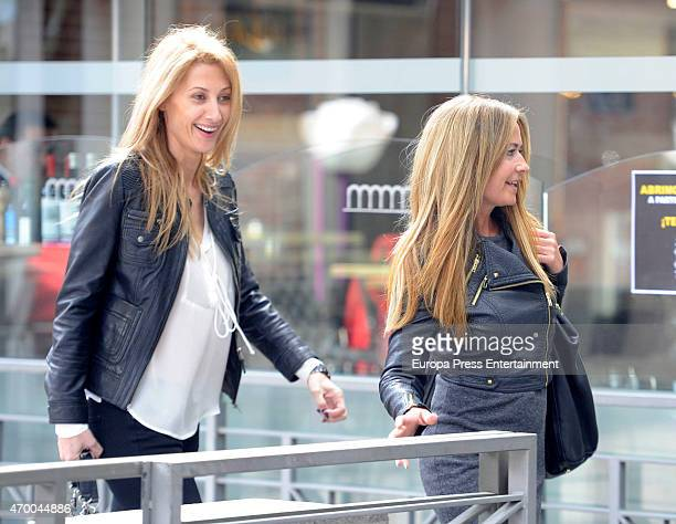 Olvido Hormigos and Monica Pont are seen on April 16 2015 in Madrid Spain