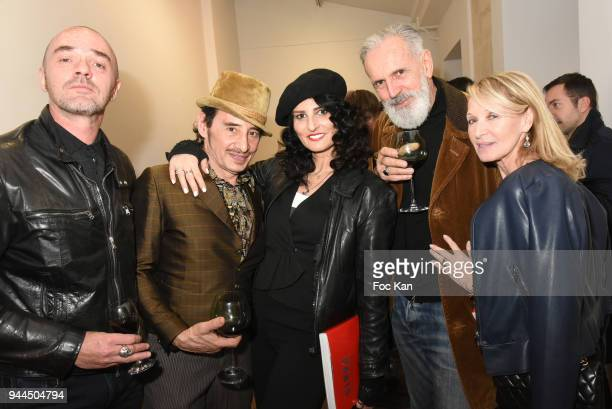 Olvier Daude Albert de Paname Sylvie Ortega Munos Jean Marie Marion and Ruth obadia attend the 'Bel RP' 10th Anniversary at Atelier Sevigne on April...