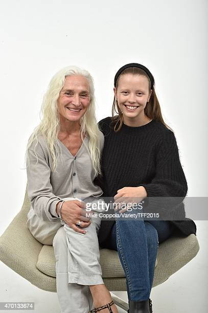Olwen Fouere and Mia Goth from The Survivalist appear at the 2015 Tribeca Film Festival Getty Images Studio on April 16 2015 in New York City