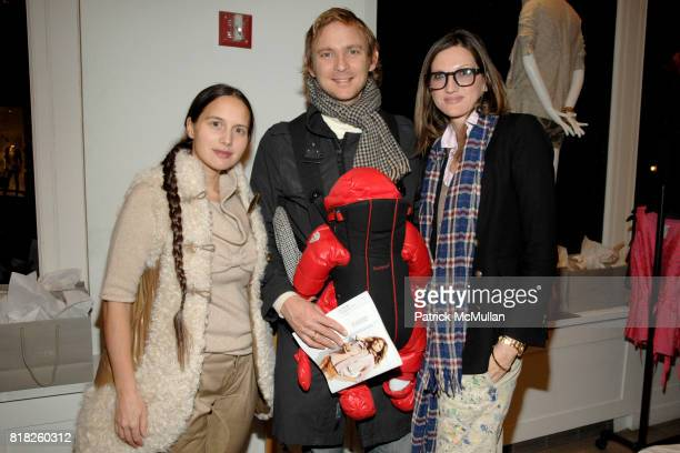 Olya Thompson Charles Thompson and Jenna Lyons attend JCREW Toasts the Nine MuseWorthy Women Featured in the March Issue at JCrew on February 25 2010...