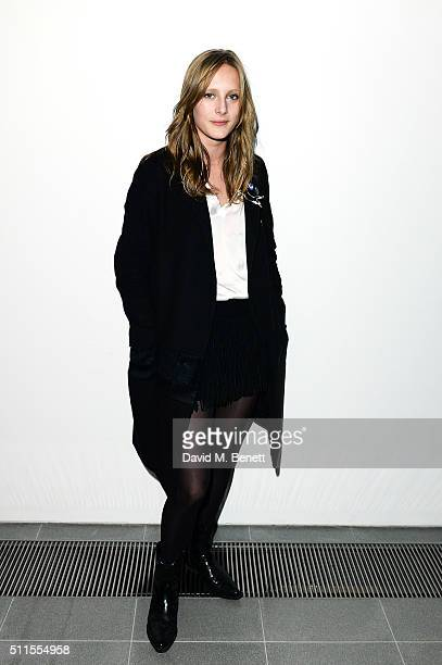 Olympia Campbell attends the Serpentine Future Contemporaries x Harrods Party 2016 at The Serpentine Sackler Gallery on February 20 2016 in London...