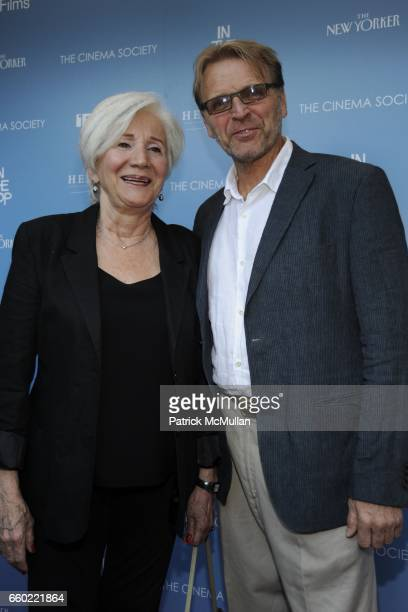 Olympia Dukakis and David Rasche attend THE CINEMA SOCIETY THE NEW YORKER host a screening of 'IN THE LOOP' at IFC Center on July 13 2009 in New York