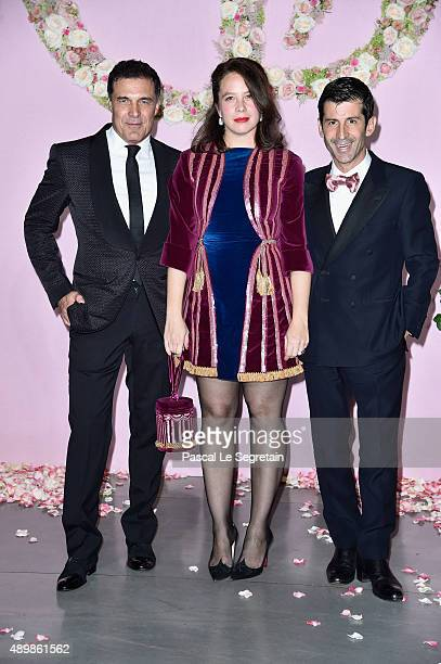 Olympia Le Tan and Andre Saraiva attend a photocall during The Ballet National de Paris Opening Season Gala at Opera Garnier on September 24 2015 in...