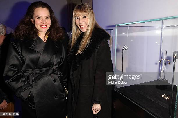 Olympia Le Tan and Victoire de Castellane attend the Launch Elie Top 'Haute Joaillerie Fantaisie' Collection on January 27 2015 in Paris France