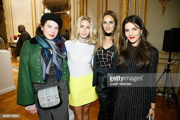 Olympia Le Tan Jewelry Designer Sabine Getty Alexia Niedzielski and Margherita Missoni attend the 'Memphis' Fine jewelry collection launch as part of...