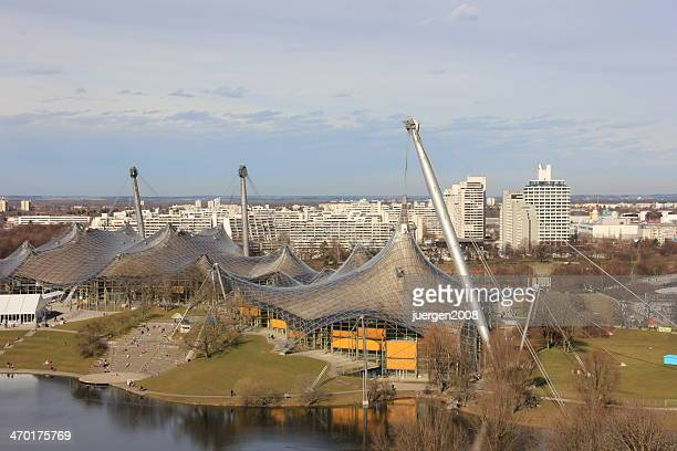 olympia park - olympiastadion munich stock pictures, royalty-free photos & images