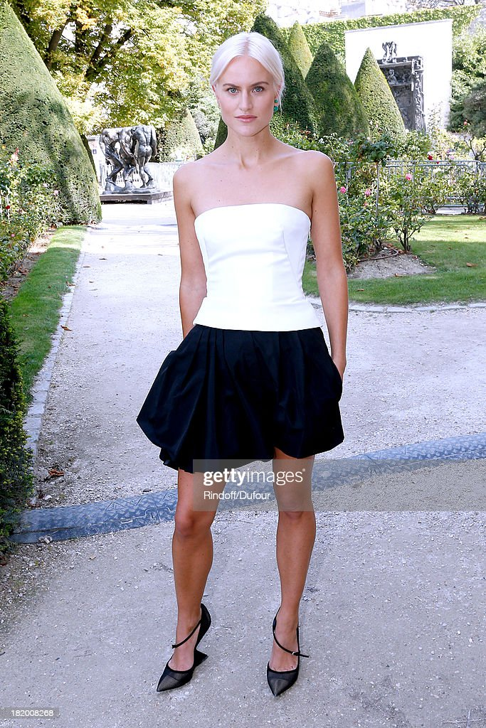 Olympia Scarry arriving at the Christian Dior show as part of the Paris Fashion Week Womenswear Spring/Summer 2014, held at Musee Rodin on September 27, 2013 in Paris, France.