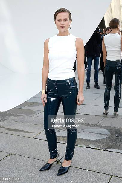 Olympia Scarry attends the Christian Dior show as part of the Paris Fashion Week Womenswear Fall/Winter 2016/2017 on March 4 2016 in Paris France