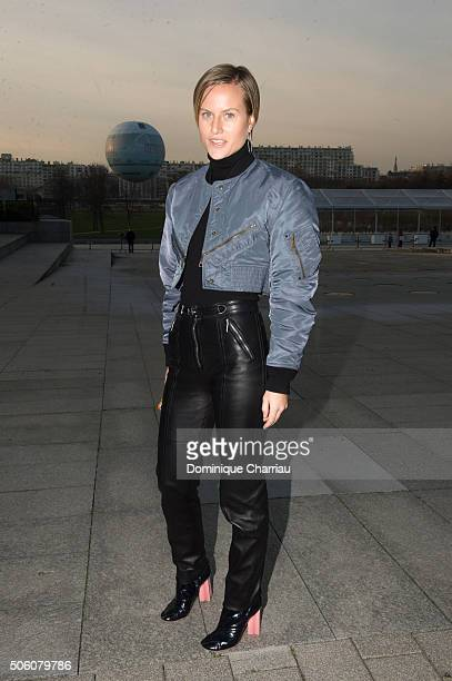 Olympia Scarry attends the Louis Vuitton Menswear Fall/Winter 20162017 show as part of Paris Fashion Week on January 21 2016 in Paris France
