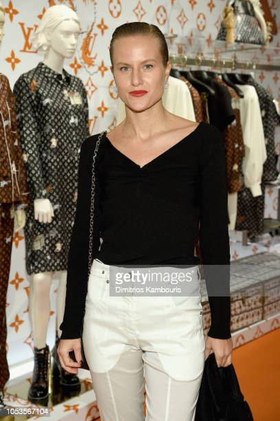 Olympia Scarry attends the Louis Vuitton X Grace Coddington Event on October 25 2018 in New York City