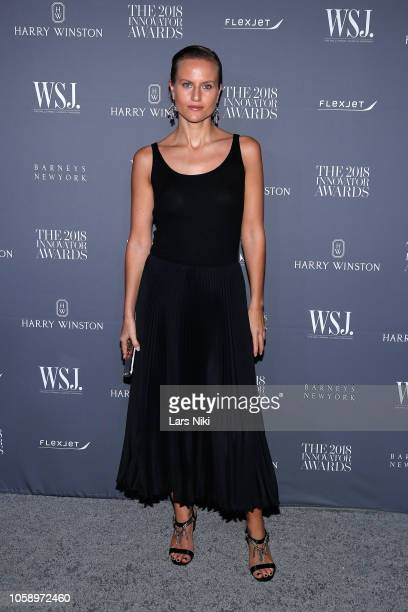 Olympia Scarry attends WSJ Magazine 2018 Innovator Awards Sponsored By Harry Winston FlexJet Barneys New York Arrivals at MOMA on November 7 2018 in...