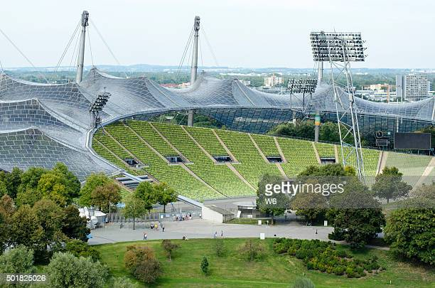 olympia stadium - olympiastadion munich stock pictures, royalty-free photos & images