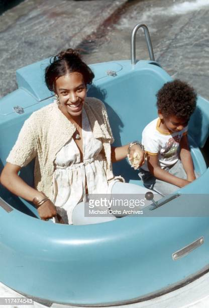 Olympia Sylvers and Foster Sylvers of the R and B group The Sylvers at Magic Mountain on June 22 1973 in Valencia California