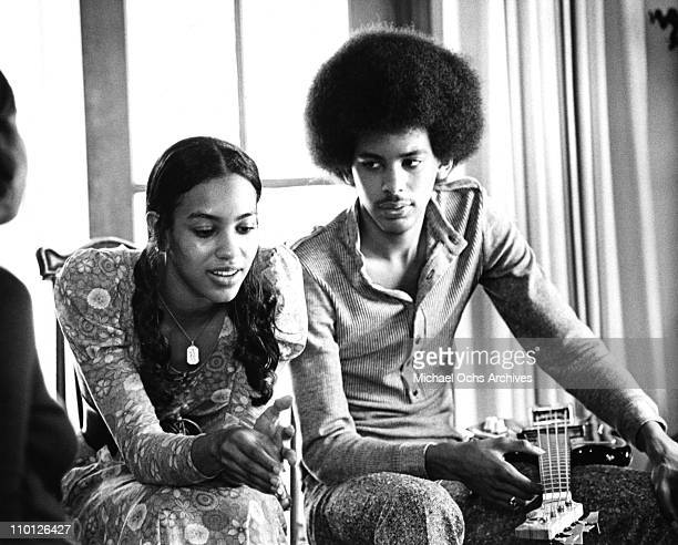 Olympia Sylvers and James Sylvers of the R and B group The Sylvers relax at home on June 29 1972 in Los Angeles California