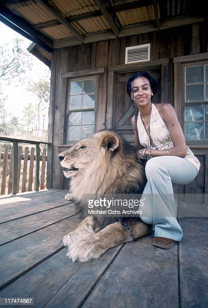 Olympia Sylvers of the R and B group The Sylvers at Magic Mountain on June 22 1973 in Valencia California