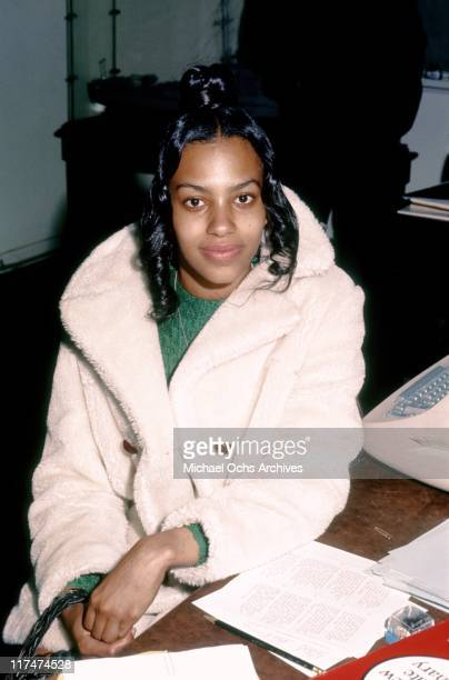 Olympia Sylvers of the R and B group The Sylvers at the Neighbors of Watts Auction on February 19 1972 in Los Angeles California