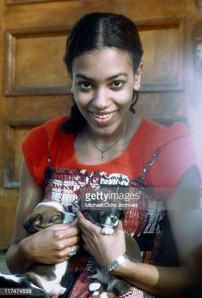 Olympia Sylvers of the R and B group The Sylvers poses for a portrait at home in January 1973 in Los Angeles California