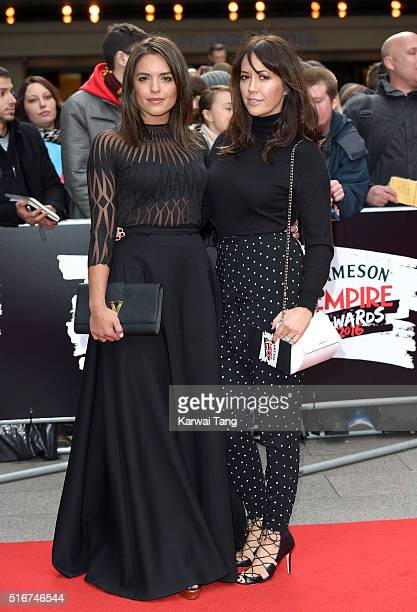 Olympia Valance and Sheree Murphy attend the Jameson Empire Awards 2016 at The Grosvenor House Hotel on March 20 2016 in London England