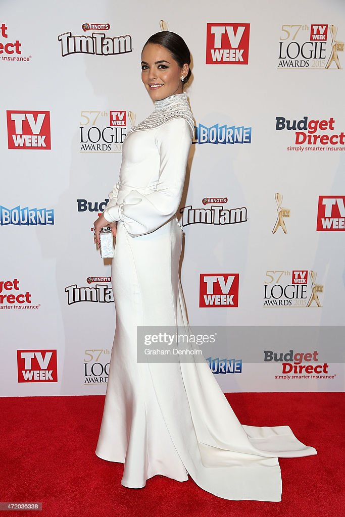 Olympia Valance arrives at the 57th Annual Logie Awards at Crown Palladium on May 3, 2015 in Melbourne, Australia.