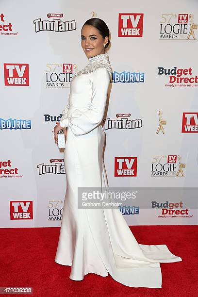Olympia Valance arrives at the 57th Annual Logie Awards at Crown Palladium on May 3 2015 in Melbourne Australia